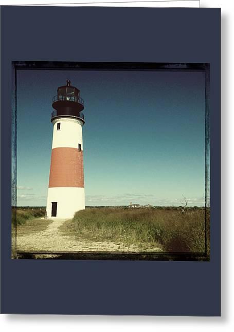 Nantucket Sound Greeting Cards - Sankaty Head Lighthouse Greeting Card by Natasha Marco