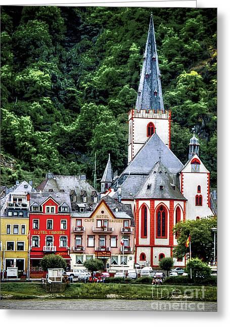 Stein Greeting Cards - Sankt Goar On The Rhine Greeting Card by Ken Johnson