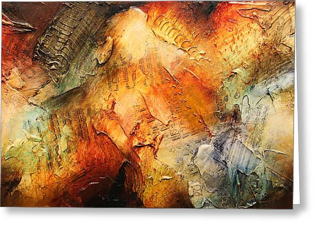 Best Sellers -  - Abstract Expressionist Greeting Cards - Sansara XVII Greeting Card by Jonas Gerard