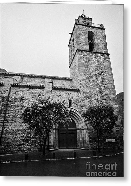 Catalunya Greeting Cards - Sant Esteve De St Stephens Baga Medieval Catalonia Spain Greeting Card by Joe Fox