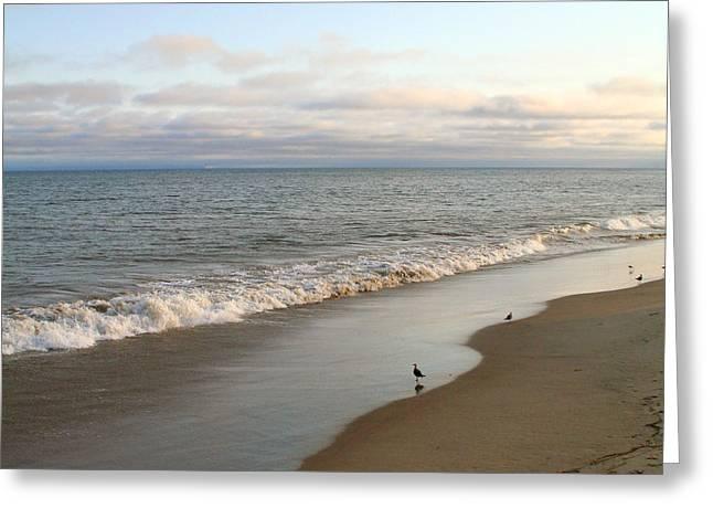 California Beach Art Greeting Cards - Santa Barbara Beach Greeting Card by Art Block Collections