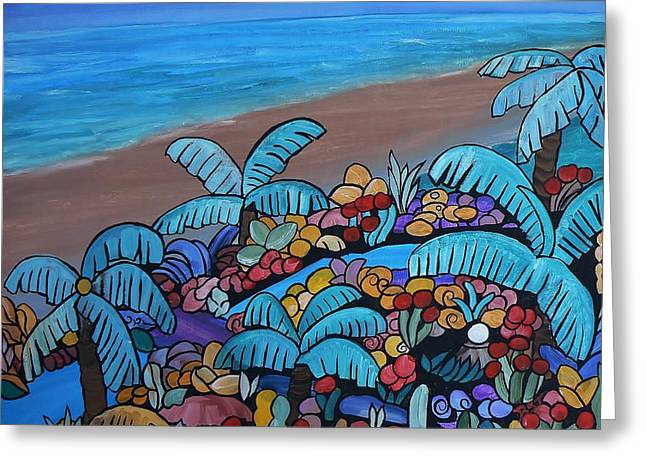 Santa Barbara Beach Greeting Card by Barbara St Jean