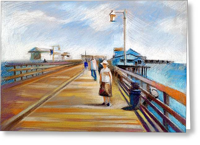 American Pastels Greeting Cards - Santa Barbara Pier Greeting Card by Filip Mihail