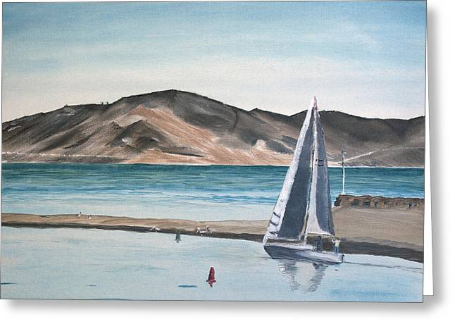 Ian Donley Greeting Cards - Santa Barbara Sailing Greeting Card by Ian Donley