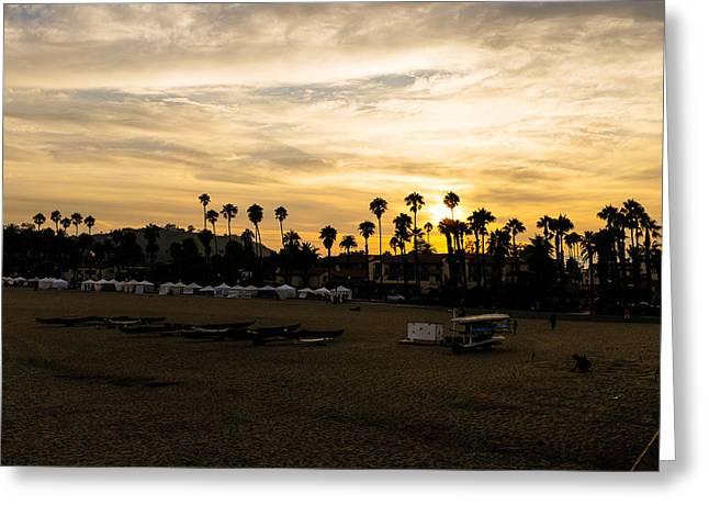 Tony Boyajian Greeting Cards - Santa Barbara Sunset Greeting Card by Tony Boyajian
