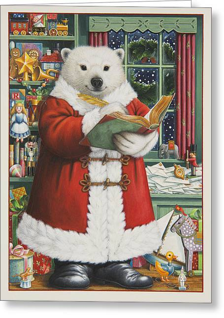 Santa Bear Painting By Lynn Bywaters