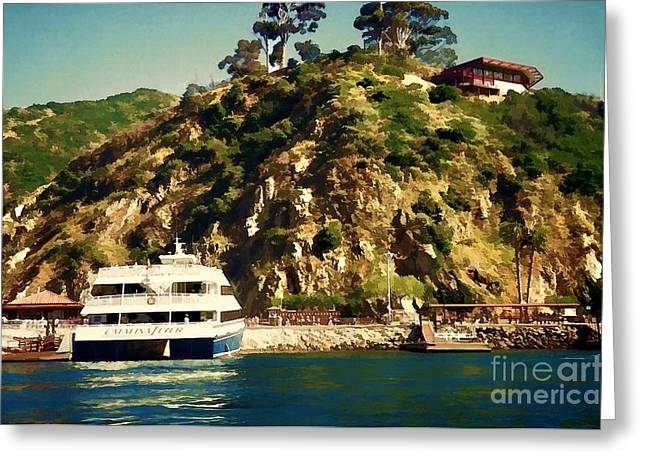 Lamdscape Greeting Cards - Catalina Island 1990 Greeting Card by Siera  Anthony Art