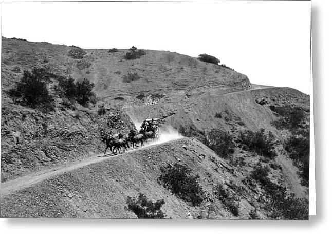 Santa Catalina Stagecoach Greeting Card by Frank L. Park