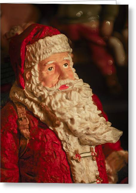 Santa Claus - Antique Ornament - 01 Greeting Card by Jill Reger