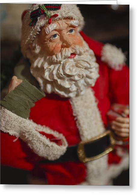 Santa Claus - Antique Ornament - 02 Greeting Card by Jill Reger