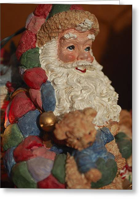 Santa Claus - Antique Ornament - 03 Greeting Card by Jill Reger