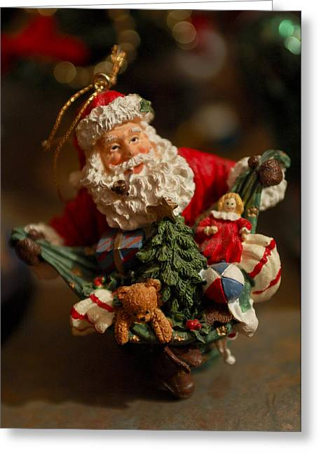Santa Claus - Antique Ornament - 04 Greeting Card by Jill Reger