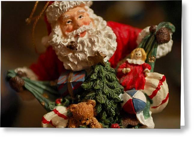Santa Claus - Antique Ornament - 04 Greeting Card by Jill Reger