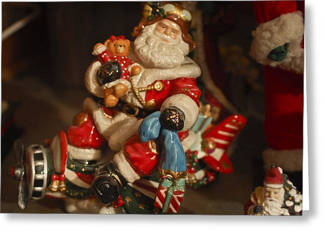 Santa Claus - Antique Ornament -05 Greeting Card by Jill Reger