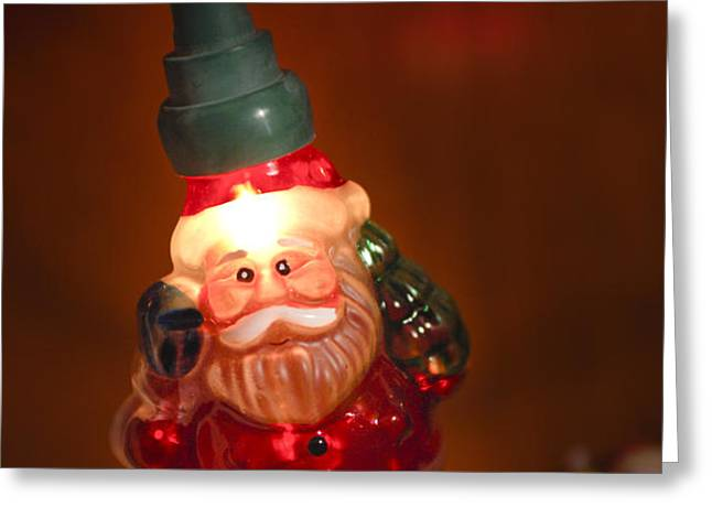 Santa Claus - Antique Ornament - 06 Greeting Card by Jill Reger