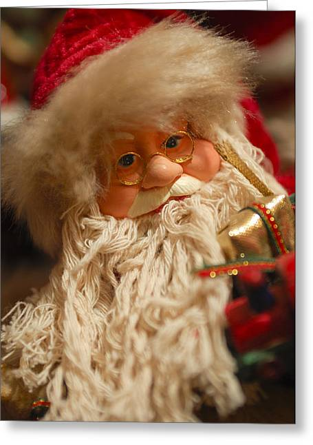Santa Claus - Antique Ornament - 08 Greeting Card by Jill Reger