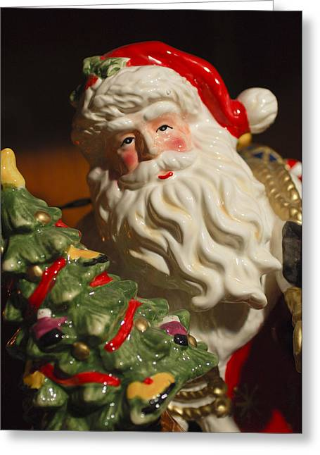 Santa Claus - Antique Ornament - 10 Greeting Card by Jill Reger