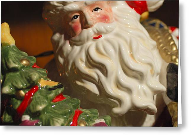 Santa Claus - Antique Ornament - 10 Greeting Card by Jill Reger