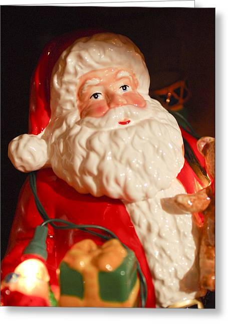 Santa Claus - Antique Ornament - 13 Greeting Card by Jill Reger