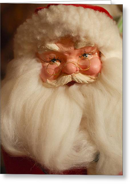 Santa Claus - Antique Ornament - 14 Greeting Card by Jill Reger