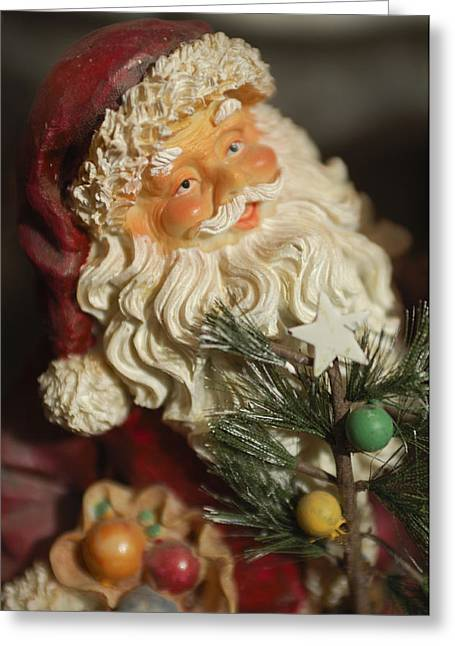 Santa Claus - Antique Ornament - 18 Greeting Card by Jill Reger