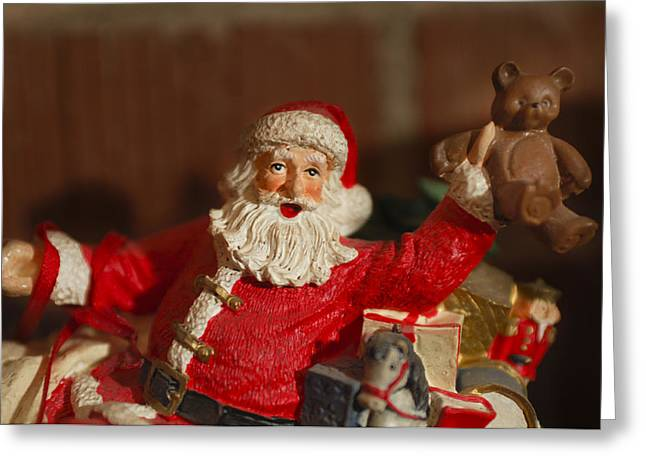 Santa Claus - Antique Ornament - 26 Greeting Card by Jill Reger
