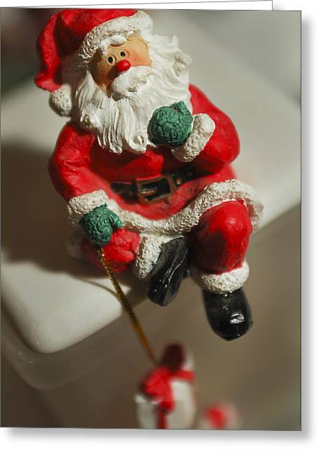 Saint Nick Greeting Cards - Santa Claus - Antique Ornament - 35 Greeting Card by Jill Reger