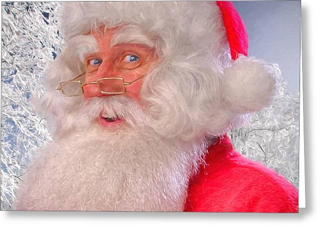 Nicholas Mixed Media Greeting Cards - Santa Claus Believe Greeting Card by John Haldane