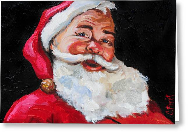 Christmastime Greeting Cards - Santa Claus Greeting Card by Carole Foret