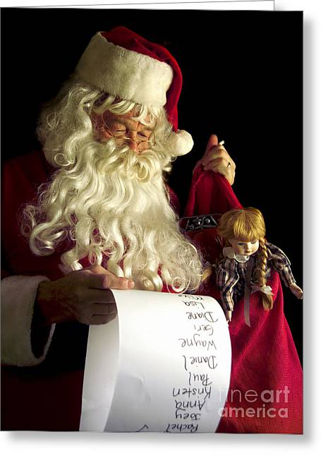Listed Greeting Cards - Santa Claus Greeting Card by Diane Diederich
