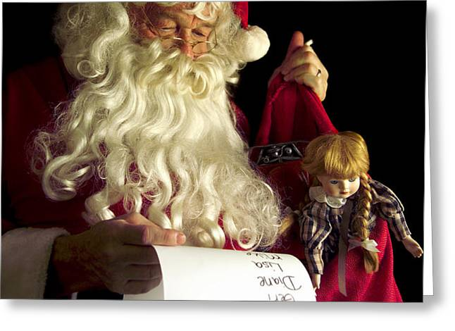 Santa Claus Greeting Card by Diane Diederich