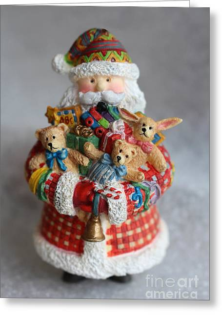 Old Saint Nick Greeting Cards - Santa Claus Greeting Card by Ella Kaye Dickey