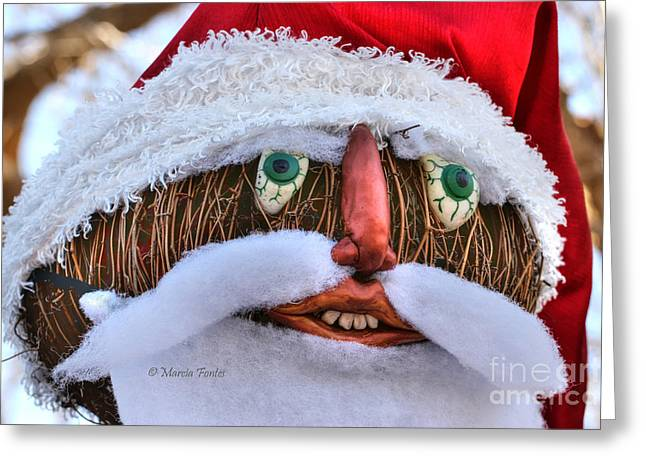 Santa Claus In Cambria California Greeting Card by Tap On Photo