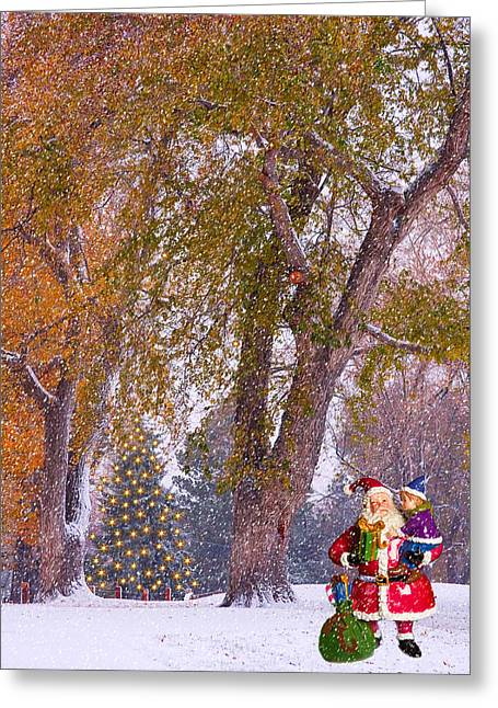 Santa Claus In The Snow Greeting Card by James BO  Insogna
