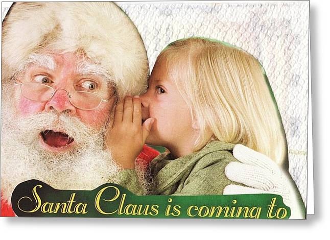Chris Cringle Greeting Cards - Santa Claus is Coming to Town Greeting Card by Matthew Hoffman