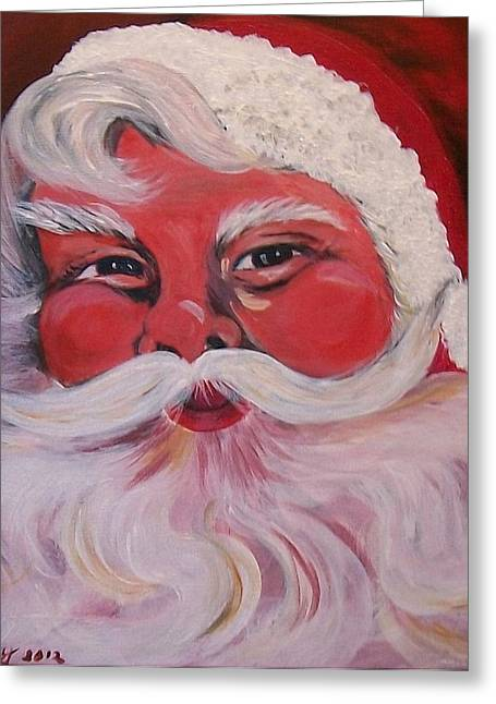 Party Hat Posters Greeting Cards - Santa Clause Greeting Card by Sharon Duguay