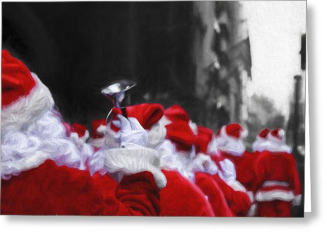 Old Saint Nick Greeting Cards - Santa Clones Greeting Card by Keith Yates