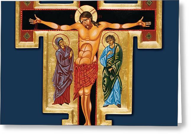 Santa Croce Greeting Card by Joseph Malham