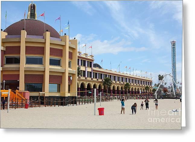Santa Cruz Beach Boardwalk California 5D23749 Greeting Card by Wingsdomain Art and Photography