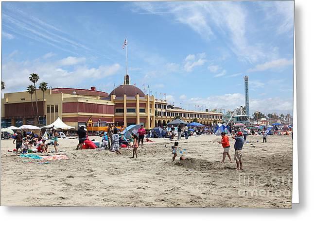 Santa Cruz Ca Greeting Cards - Santa Cruz Beach Boardwalk California 5D23755 Greeting Card by Wingsdomain Art and Photography