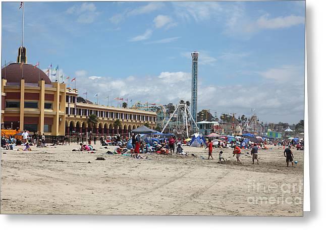 Santa Cruz Ca Greeting Cards - Santa Cruz Beach Boardwalk California 5D23756 Greeting Card by Wingsdomain Art and Photography