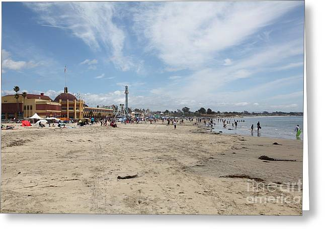 Santa Cruz Ca Greeting Cards - Santa Cruz Beach Boardwalk California 5D23758 Greeting Card by Wingsdomain Art and Photography