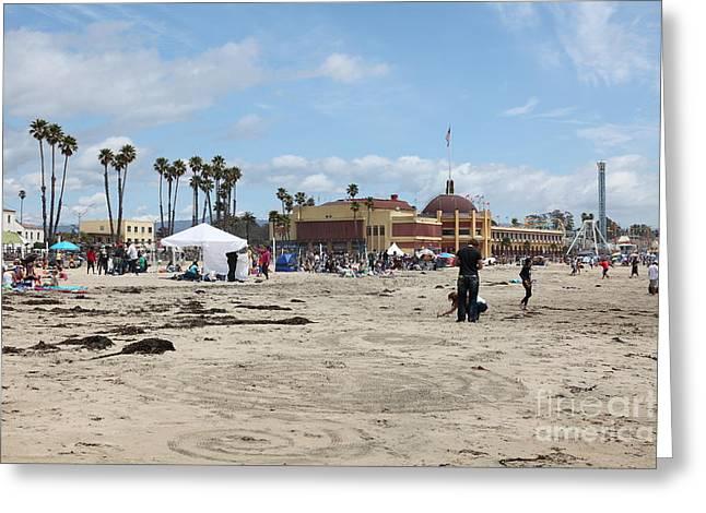 Santa Cruz Ca Greeting Cards - Santa Cruz Beach Boardwalk California 5D23760 Greeting Card by Wingsdomain Art and Photography