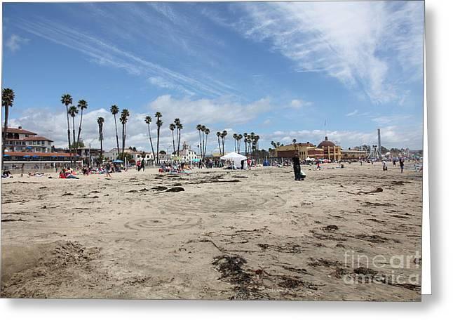 Santa Cruz Ca Greeting Cards - Santa Cruz Beach Boardwalk California 5D23761 Greeting Card by Wingsdomain Art and Photography