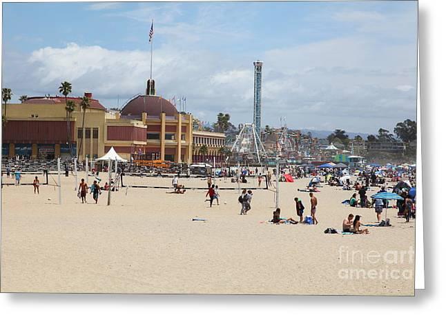 Santa Cruz Ca Greeting Cards - Santa Cruz Beach Boardwalk California 5D23774 Greeting Card by Wingsdomain Art and Photography