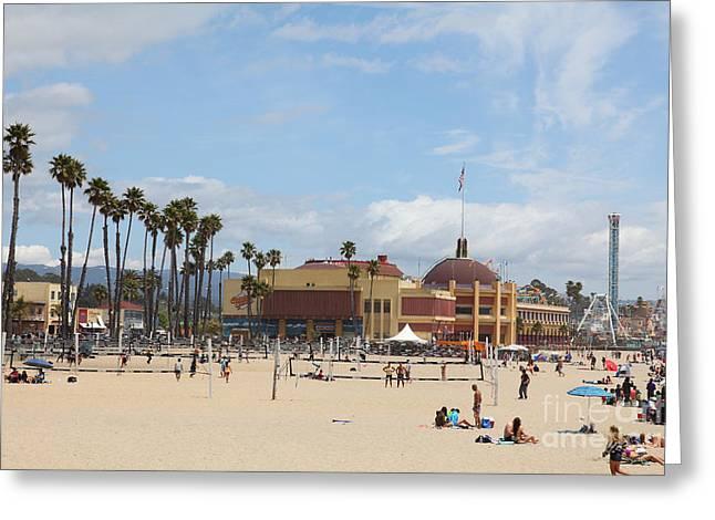 Santa Cruz Ca Greeting Cards - Santa Cruz Beach Boardwalk California 5D23775 Greeting Card by Wingsdomain Art and Photography