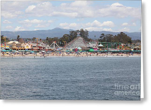 Santa Cruz Ca Photographs Greeting Cards - Santa Cruz Beach Boardwalk California 5D23799 Greeting Card by Wingsdomain Art and Photography