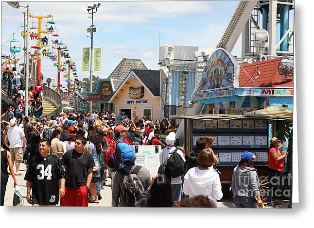 Santa Cruz Ca Photographs Greeting Cards - Santa Cruz Beach Boardwalk California 5D23848 Greeting Card by Wingsdomain Art and Photography