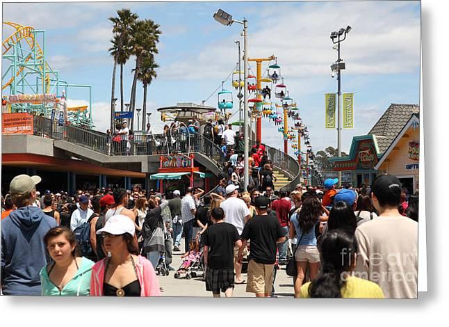 Santa Cruz Ca Greeting Cards - Santa Cruz Beach Boardwalk California 5D23849 Greeting Card by Wingsdomain Art and Photography