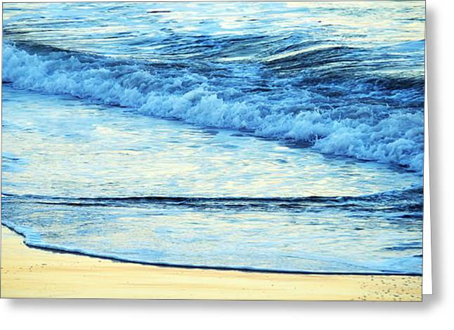 Santa Cruz Greeting Cards - Santa Cruz Beach Panoramic Greeting Card by Christina Ochsner